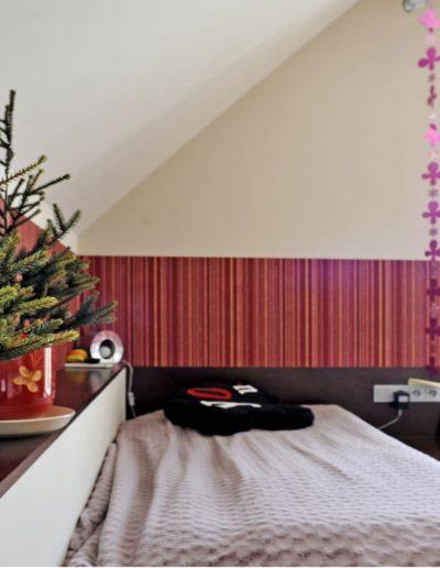 12-10 Format Design, projekt domu jednorodzinnego, projekt pokoju dziecięcego, łóżko, półki