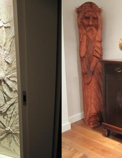 14-11 Format Design, projekt domu , projekt pokoju, rzeźba, płaskorzeźba, kredens, podłoga dąb,
