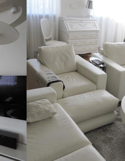 14-7 Format Design, projekt domu , projekt salonu, lampa wisząca, ława okrągła, lampa stojąca, toaletka, aranzacja okien, komoda