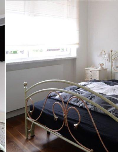14-8 Format Design, projekt domu , projekt sypialni, lampa wisząca, sypialnia, garderoba, drzwi ażurowe, podłoga drewnaina