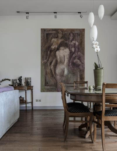 5-5-Format-Design-dom-rodzinny-salon-stół-projekt-kominka-obraz-Agnieszka-Frąckowiak