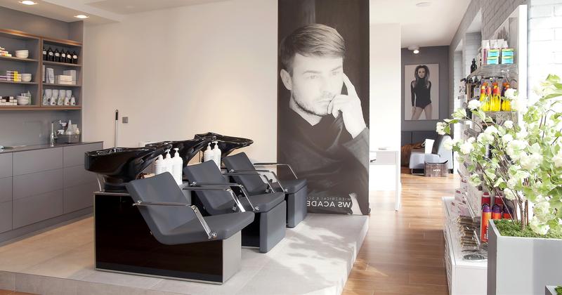 7-1 Format Design, projekt salonu fryzjersko kosmetycznego, stanowisko do mycia włosów