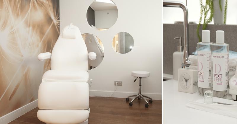 7-10 Format Design, projekt salonu kosmetycznego,fotel kosmetyczny, lustra okrągłe