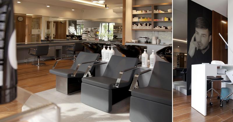 7-2 Format Design, salon fryzjerski, stanowisko do mycia włosów, projekt oświetlenia