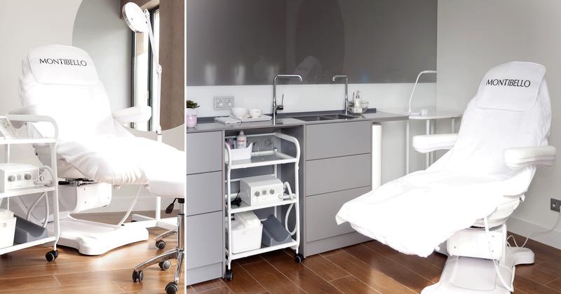 7-9 Format Design, projekt salonu fryzjersko kosmetycznego, stanowisko kosmetyczne, fotel kosmetyczny